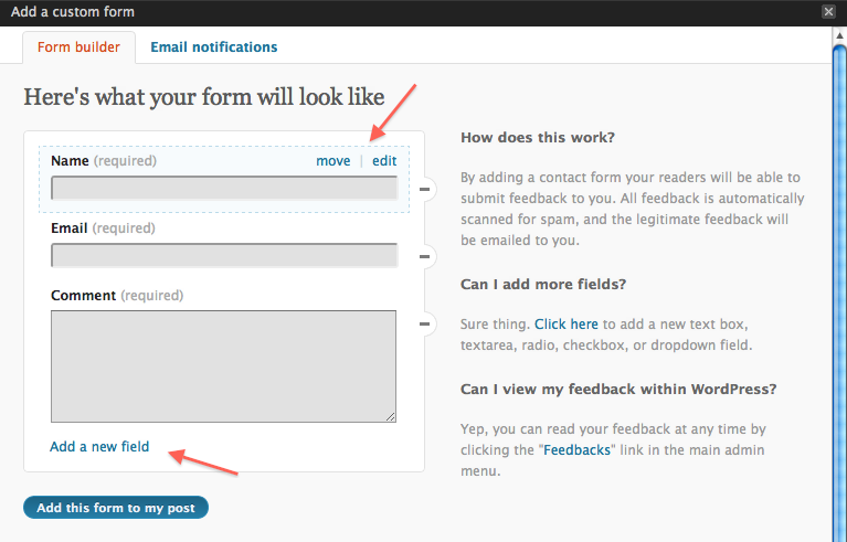 a contact form how make flash to
