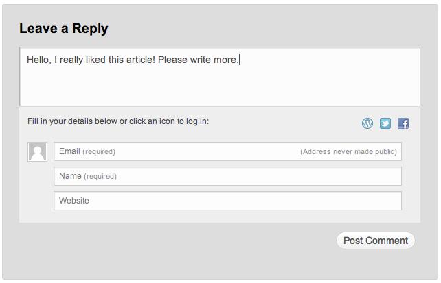 Comentarios Jetpack como WordPress.com