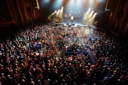 Crowd at a Childish Gambino concert in Oakland