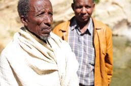 Elders in a village in Ethiopia