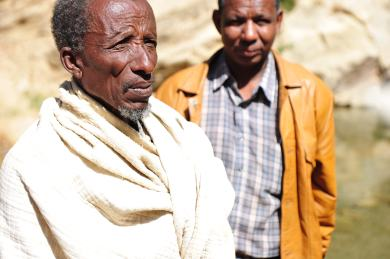 Elders in a village in Ethiopia