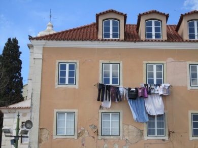 Drying laundry in Lisbon