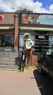 Guitarist statue in Madrid, New Mexico