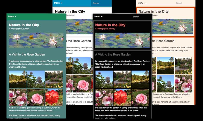 Custom mobile theme layouts