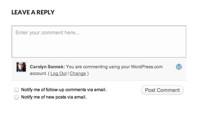 Пример использования подписки на комментарии