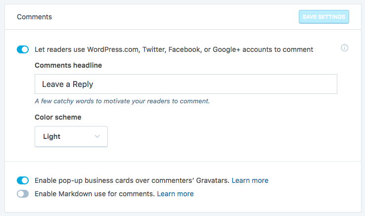 Allowing users to use their social accounts to comment on your content