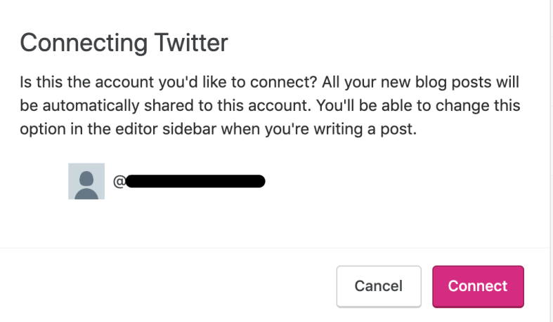 Connecting Twitter