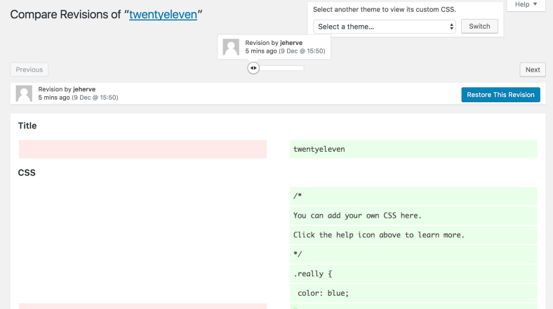 Custom CSS Revisions