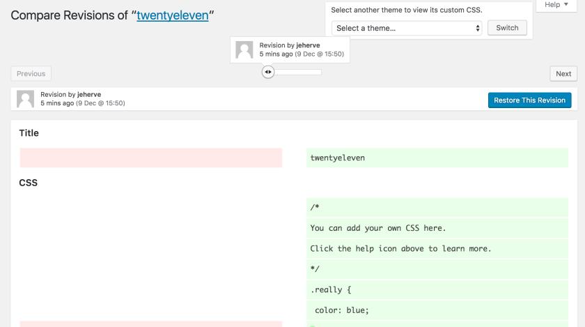 Revisões de CSS personalizado