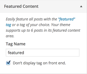 Featured Content Customizer Settings
