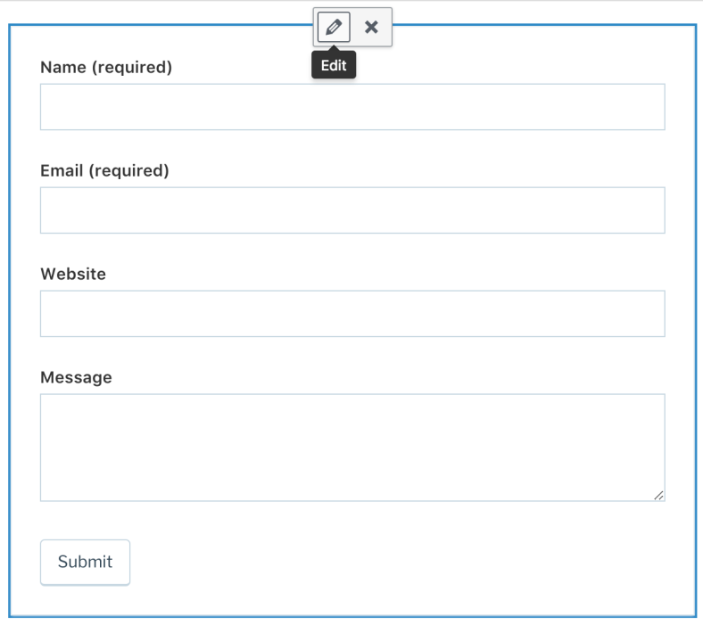 Contact Form (Classic Editor)