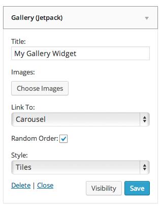 Gallery Widget Settings