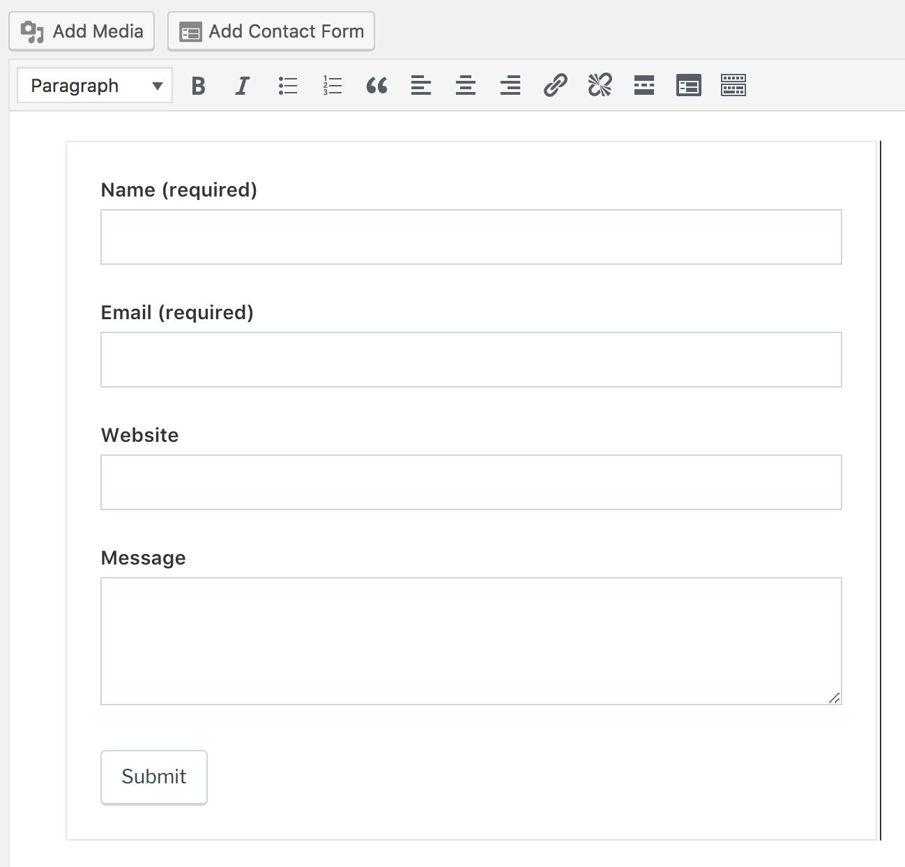 WordPress Contact Form — Jetpack for WordPress