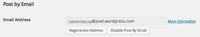 Your Post By Email Address