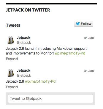 Muestra el widget de Twitter