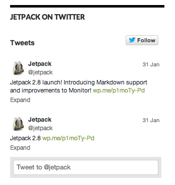 Twitter Widget display