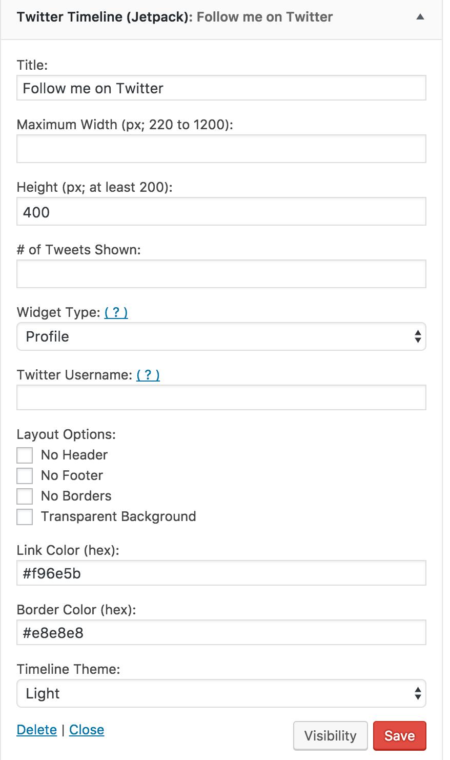 Twitter Timeline Widget