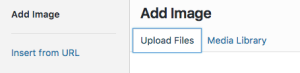 Upload or Insert Image