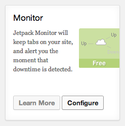 Jetpack Monitor Module Card