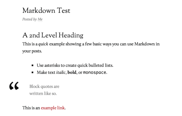 Markdown converted to HTML in Reddle