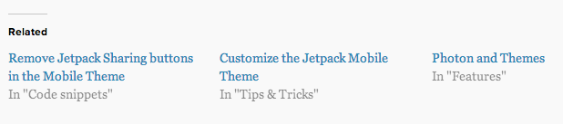 Jetpack 2.9 Related Content Module