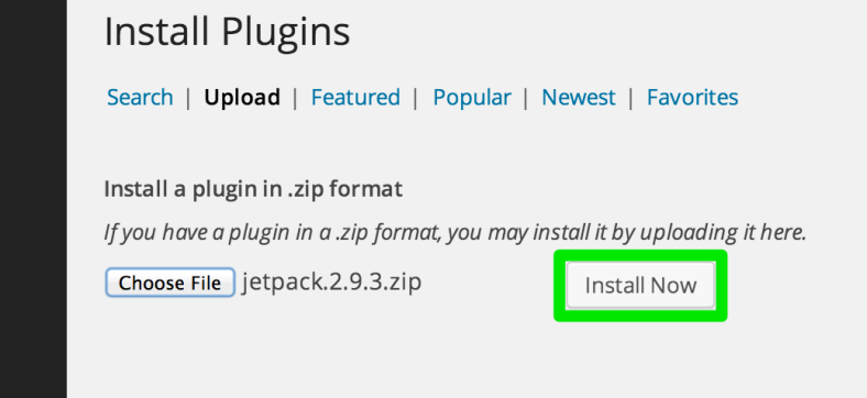 Manual upload of plugin update