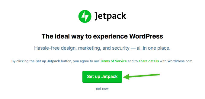 Set up Jetpack