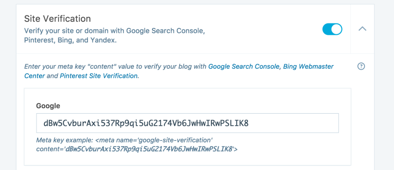 Google Search Console Verification