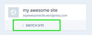 Click on Switch Site
