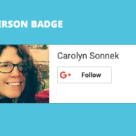 Person badge using landscape layout and light theme.