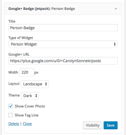 Person-widget