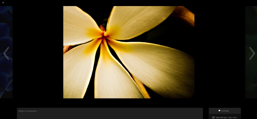 A sample image in Carousel, displayed on a black background.