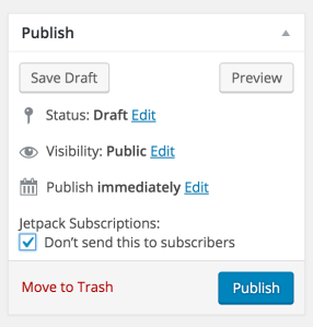 Jetpack Subscriptions Options