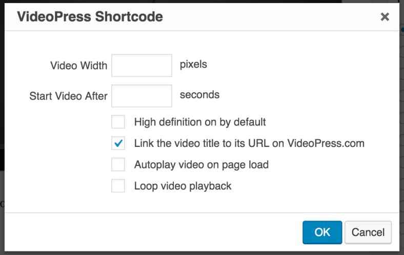 VideoPress modal in Editor