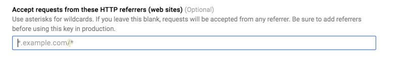 Google Maps API Key restriction