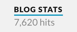 blog stats showing 7620 hits