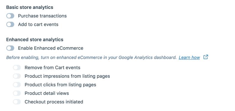 enhanced google analytics module options