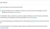 Jetpack Privacy Center