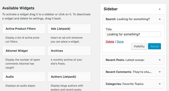 Changing the name of your widgets in WordPress