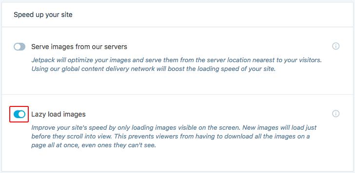 Mengaktifkan lazy memuat gambar di WordPress