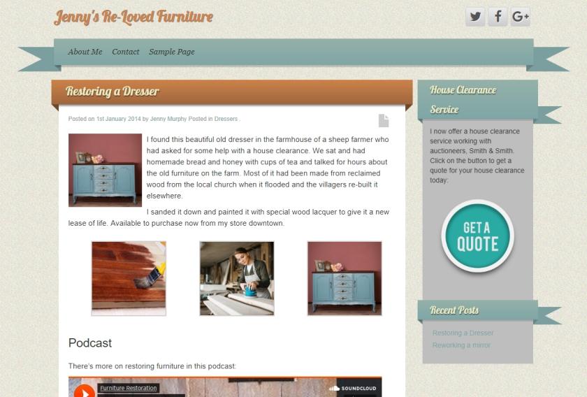 Repurposing content with a custom sidebar