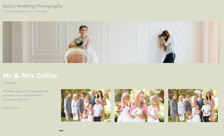 Portfolio project page using Champagne customized Orvis theme