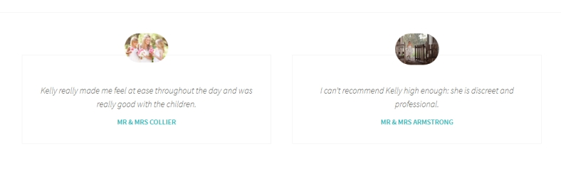 Jetpack Testimonials Custom Content Type displayed using the Dara theme