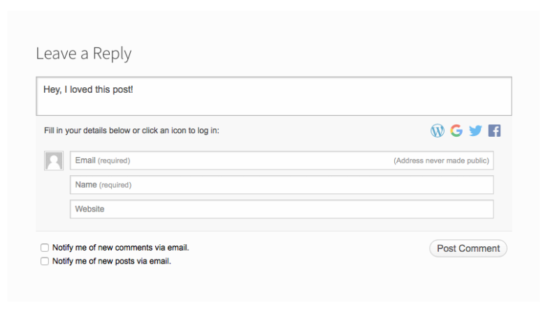 Allow social logins for commenting