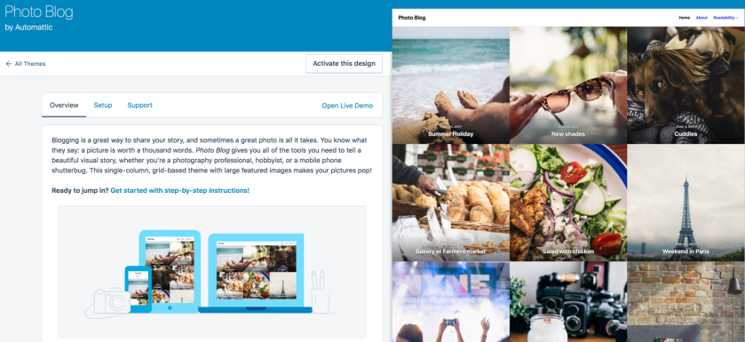Customize your WordPress theme when updating your website layout