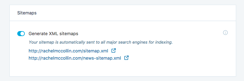 Jetpack's automatically generated sitemaps