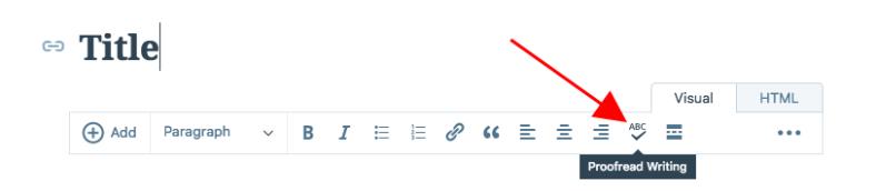 Jetpack's proofreading option