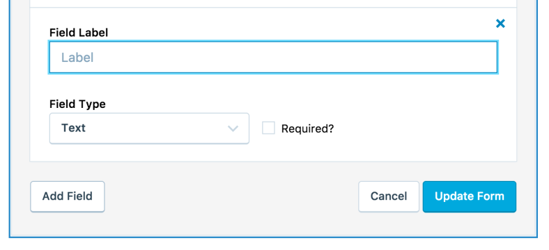 screen shot of new jetpack contact form