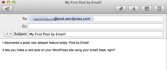 Post by email on the go with Jetpack