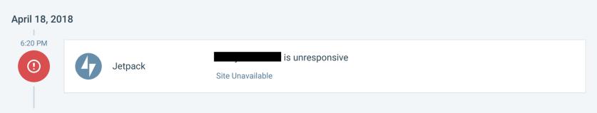 Unresponsive push notification